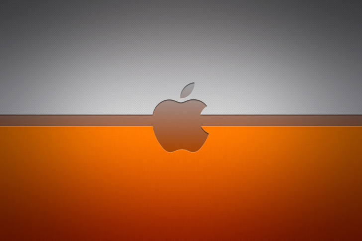 Fondo de pantalla Grey And Orange Apple Logo