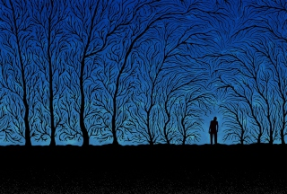 Free Blue Silhouettes Picture for Android, iPhone and iPad