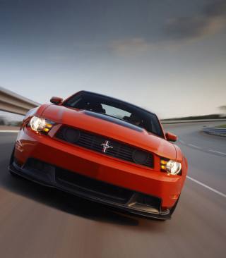 Red Cars Ford Mustang Wallpaper for 240x320