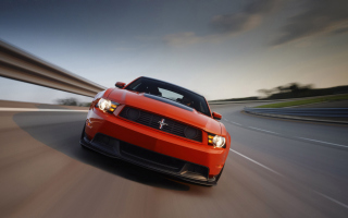 Red Cars Ford Mustang Wallpaper for Nokia Asha 205