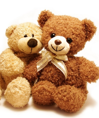 Valentine Teddy Bear Hug Wallpaper for 128x160