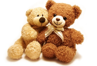 Valentine Teddy Bear Hug Background for Android, iPhone and iPad