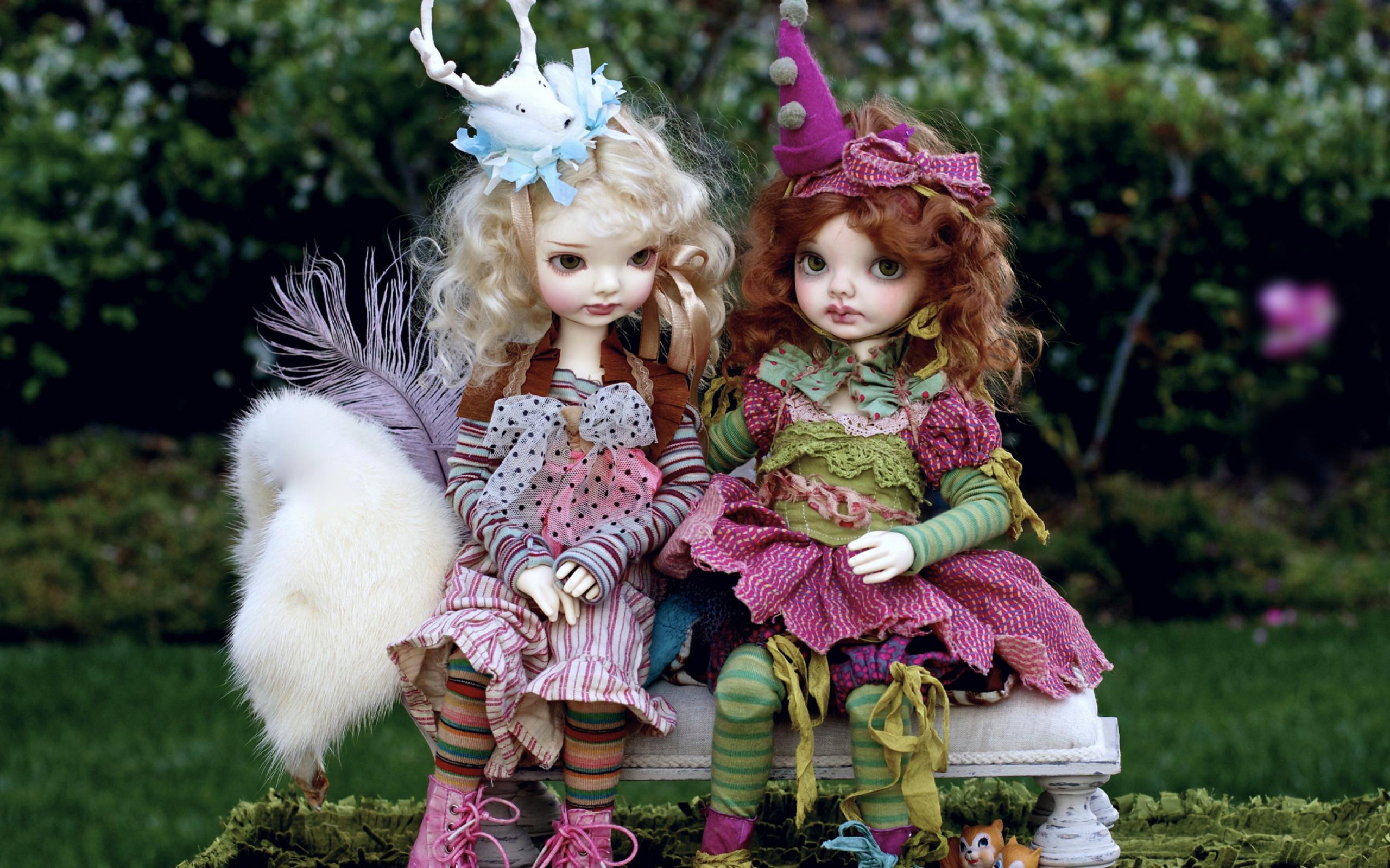 доме обои на рабочий стол куклы ручной работы одной них