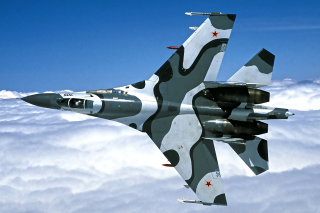 Sukhoi Su 27 Background for Android, iPhone and iPad