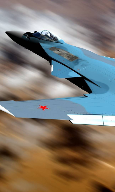 Screenshot №1 pro téma Sukhoi Su 47 Firkin Jet Fighter 480x800