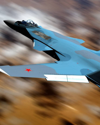 Free Sukhoi Su 47 Firkin Jet Fighter Picture for Nokia Asha 306