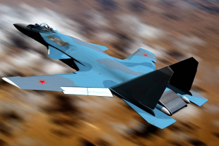 Sukhoi Su 47 Firkin Jet Fighter Background for Android, iPhone and iPad