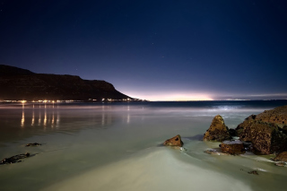 Beach At Night Wallpaper for Android, iPhone and iPad