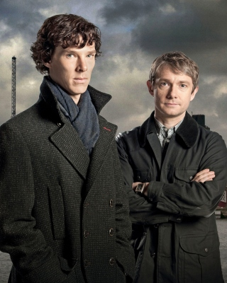Benedict Cumberbatch Sherlock BBC TV series Background for Nokia 5233