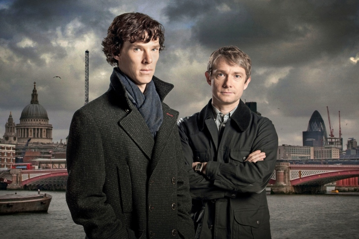 Benedict Cumberbatch Sherlock BBC TV series wallpaper