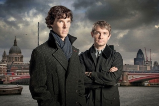 Benedict Cumberbatch Sherlock BBC TV series Wallpaper for Samsung Galaxy S3