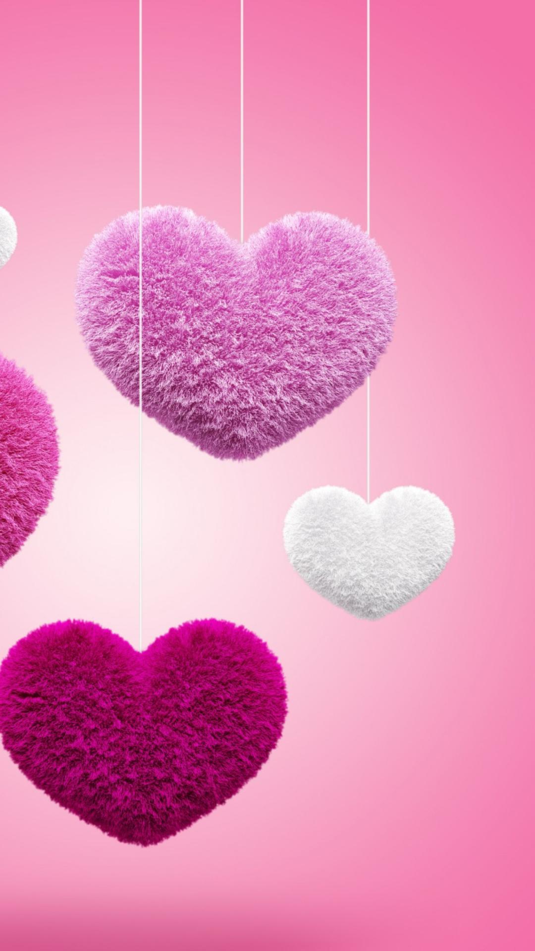 Картинка с сердечками на телефон