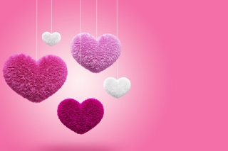 Free Fluffy Hearts Picture for Android, iPhone and iPad