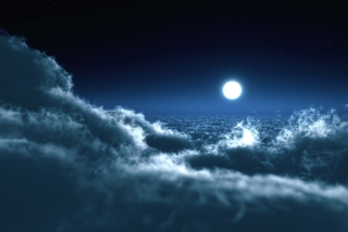 Moon Over Clouds sfondi gratuiti per cellulari Android, iPhone, iPad e desktop