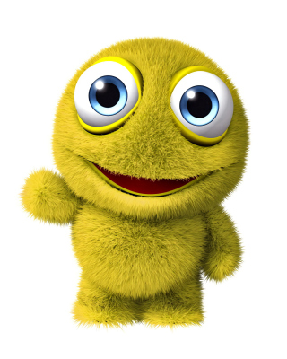 3D Yellow Monster Background for 480x800