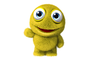 3D Yellow Monster sfondi gratuiti per 1366x768