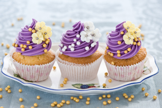 Purple Cupcake Wallpaper for Android, iPhone and iPad