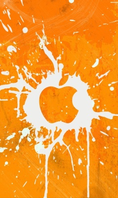 Screenshot №1 pro téma Apple Orange Logo 240x400