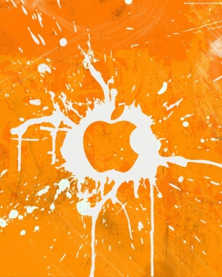 Kostenloses Apple Orange Logo Wallpaper für Nokia Asha 308