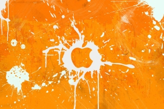 Обои Apple Orange Logo на телефон