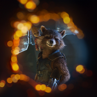 Guardians of the Galaxy Vol 2 Rocket Raccoon Superhero - Obrázkek zdarma pro iPad