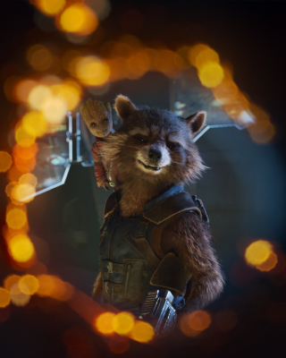Kostenloses Guardians of the Galaxy Vol 2 Rocket Raccoon Superhero Wallpaper für 640x960