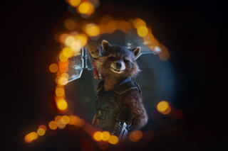Guardians of the Galaxy Vol 2 Rocket Raccoon Superhero - Obrázkek zdarma pro Desktop Netbook 1366x768 HD
