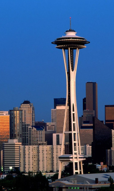 Seattle Space Needle wallpaper 480x800