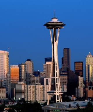 Seattle Space Needle Background for HTC Titan