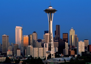 Seattle Space Needle Wallpaper for Android, iPhone and iPad