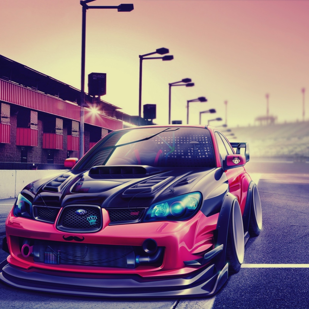 Subaru Impreza Super Tuning wallpaper 1024x1024