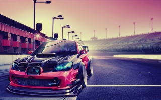 Subaru Impreza Super Tuning Background for Android, iPhone and iPad
