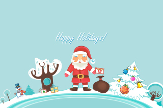 Santa Claus Wishes You Happy Holidays - Fondos de pantalla gratis
