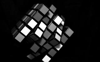 Free Black Rubik Cube Picture for Android, iPhone and iPad