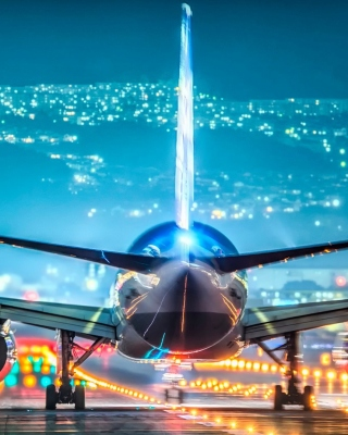 Airport Evening Background for 640x1136