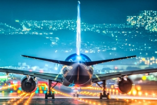 Airport Evening Background for Android, iPhone and iPad