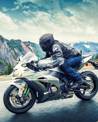 Kawasaki Ninja ZX 10R Background for iPhone 5