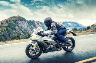 Kawasaki Ninja ZX 10R Background for Android, iPhone and iPad