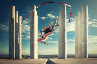 Gymnastics Jump Picture for Android, iPhone and iPad