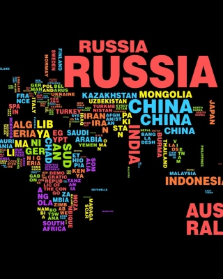 World Map with Countries Names Background for Nokia Asha 305
