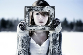 Winter Portrait Background for Android, iPhone and iPad