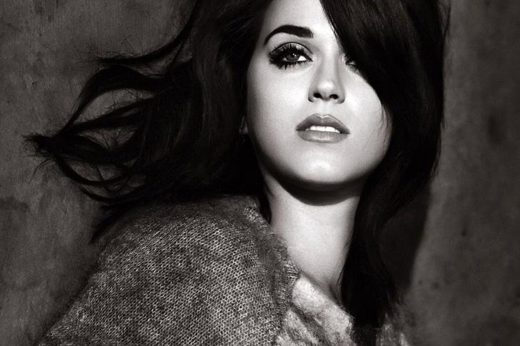 Mujeres Música Katy Perry Cabello Azul Desgaste Cantantes: Katy Perry Black And White