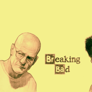 Kostenloses Walter White and Jesse Pinkman in Breaking Bad Wallpaper für iPad 2