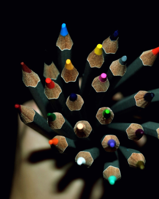 Free Colorful Pencils In Hand Picture for Nokia Lumia 1020