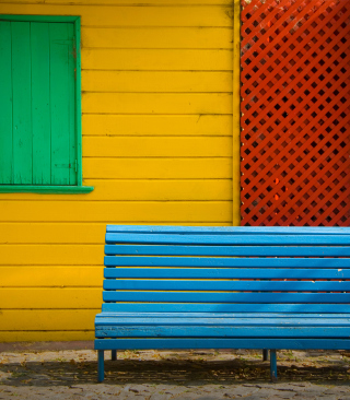 Colorful Houses and Bench - Fondos de pantalla gratis para Samsung Dash