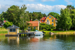 Vaxholm, Sweden Background for Android, iPhone and iPad