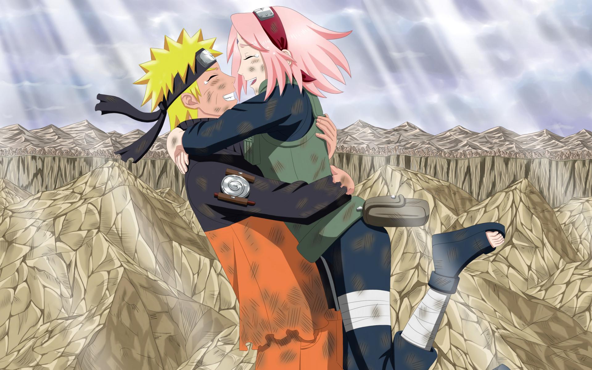 Uzumaki Naruto And Haruno Sakura Wallpaper For Widescreen