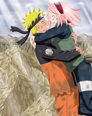 Uzumaki Naruto and Haruno Sakura Background for 480x640