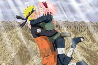 Uzumaki Naruto and Haruno Sakura Background for 800x600