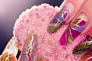 Acrylic Nail Art Picture for Android, iPhone and iPad